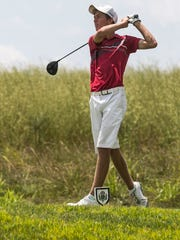 Andrew Forjan, hits a tee shot during the York County