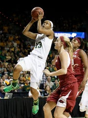 Baylor's Nina Davis was the Big 12 player of the year and has been the Bears' go-to player in their first two NCAA Tournament games.