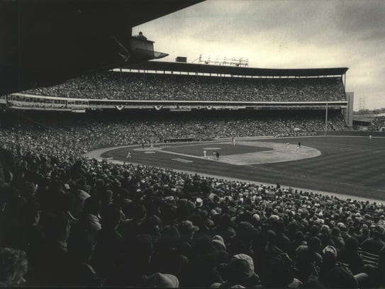 1988: A view from the lower grandstand on the first