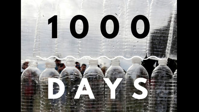 It has been 1,000 days since Flint had clean tap water for its residents.