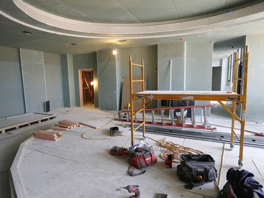 The spa area of the under-construction Lodge Kohler