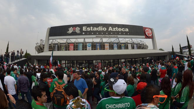 Estadio Azteca was damaged during Tuesday's earthquake that hit Mexico City.