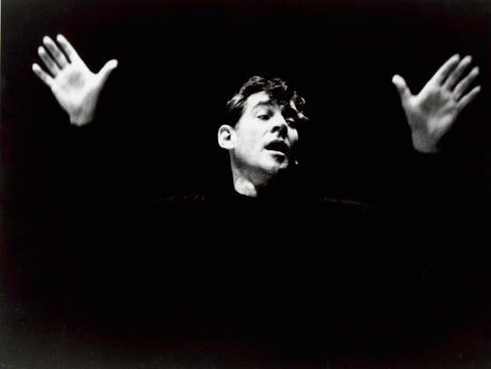 A portrait of Leonard Bernstein in 1956.
