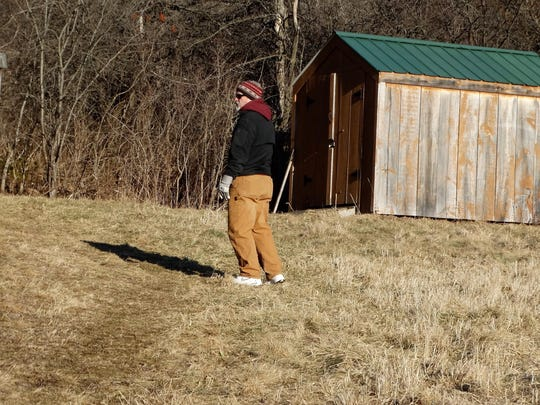 A hiker starts up the trail in Geprags Community Park on Feb. 18. The Lincoln resident said it was his first visit to the park.