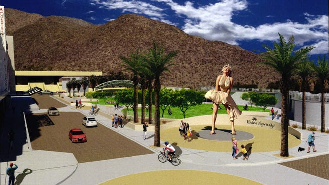 Rendering of the event space in downtown Palm Springs