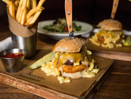 Mac & cheese burger from The Ainsworth, Newark.