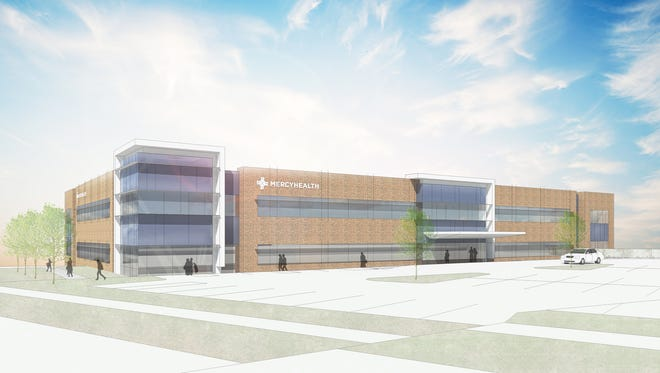 An artist's rendering of the new Mercy Health space, with the anchor tenant to be the Cincinnati Eye Institute