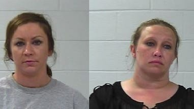 Lauren Luther, left, and Goldie Hairrell