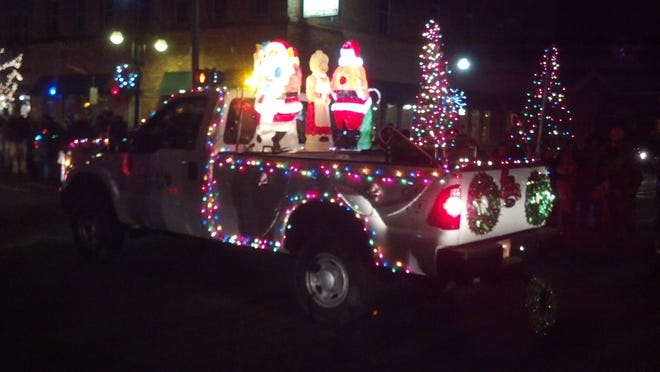 The annual Night Lights Christmas Parade was held on Friday, Dec. 5, starting at the fire station, 500 N. Clinton, and end at the Sun Theatre, 316 S. Bridge St. after a rollicking trip through town.