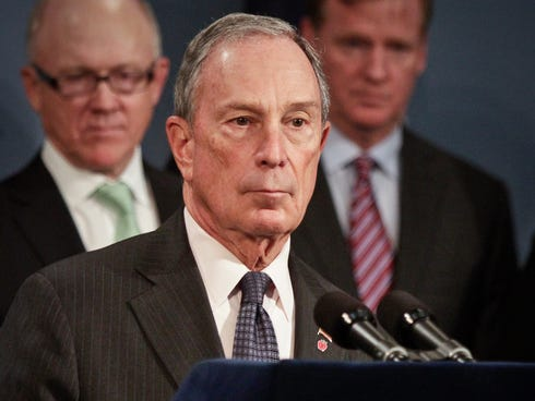 New York Mayor Michael Bloomberg speaks during a press conference to announce a $2 million youth charity grant on Oct. 10, 2013.