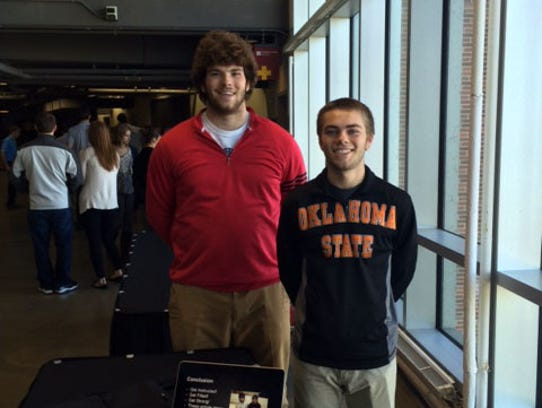 Urbandale High School's Jake Heinrich and Alec Sheppard