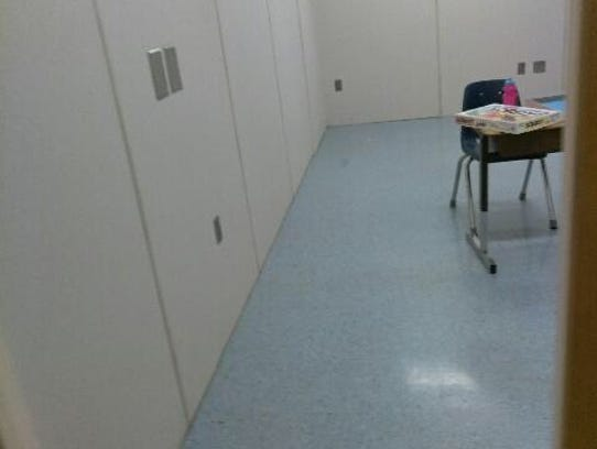 The seclusion room at Lake Labish Behavior Center in