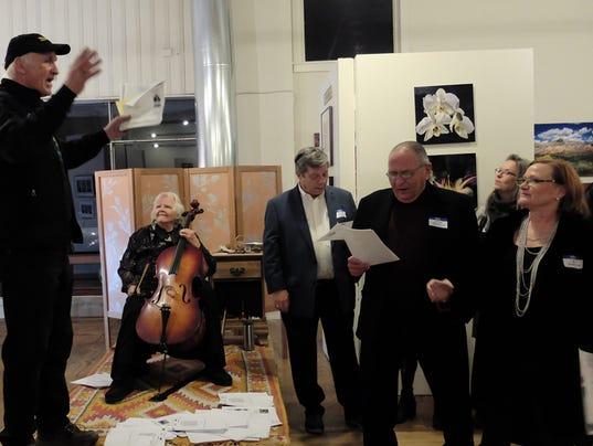 Impromptu choral concert