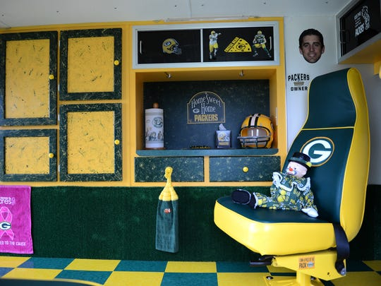 If it's Packers-themed, you name it and Gary and Ginger Kerkhoff have it in their swanky tailgating vehicle, right down to the paper towels. Their Lambeau Rescue will be part of Saturday's Green and Golden Car Show in downtown Green Bay.