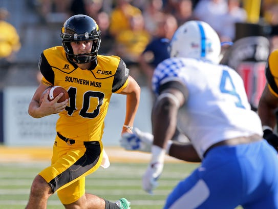 Southern Miss kicker Briggs Bourgeois has 20 touchbacks on 33 kickoffs this season.