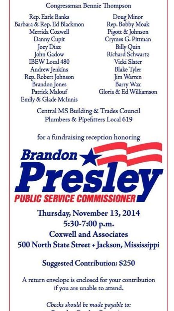 Presley fundraiser