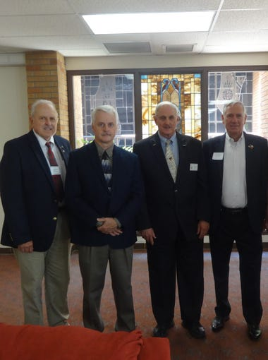 John Kind, left, Mark Parsons, Larry Spradlin, Tom Holmsley and Bill Dingwall Jr.