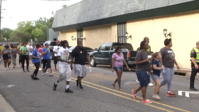 The annual peace walk was held in Lafayette Wednesday.