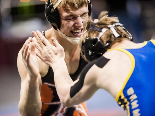 Chinook's Tate Niederegger battles Libby's Laine Young