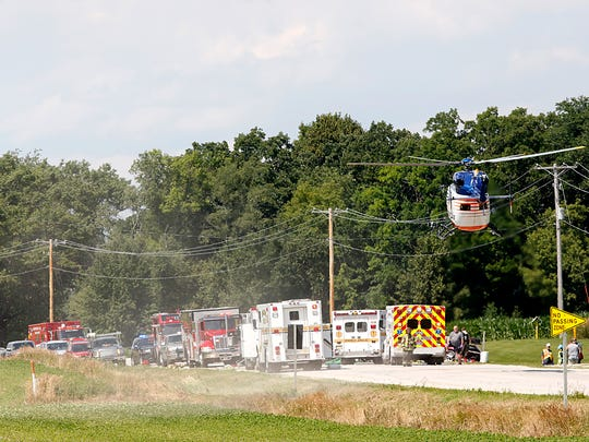 Flight For Life lifts off from a two-vehicle crash