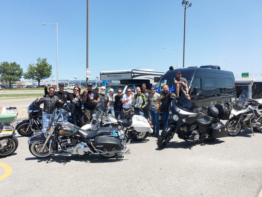 The Music Row crew riding from Nashville to Sturgis