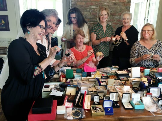 GraceWorks volunteers get jewelry ready for the Spring