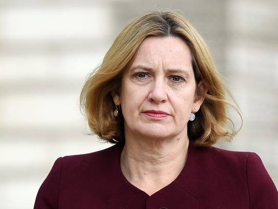 Britain's Minister of the Interior Amber Rudd in London, April