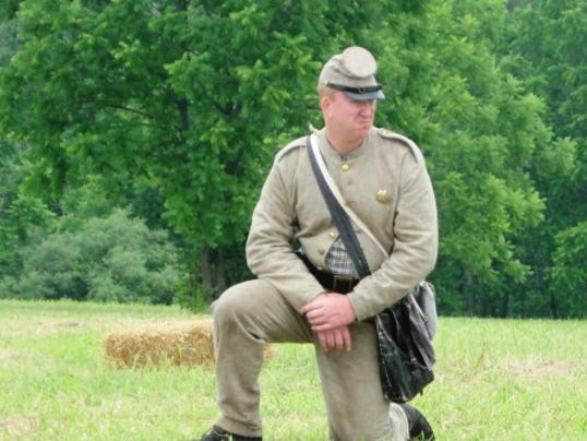 Confederate reenactor at the Whitehall Civil War Days; photo by Scott Mingus