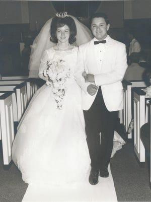 J.R. and Glenda Thompson on their wedding day in 1965