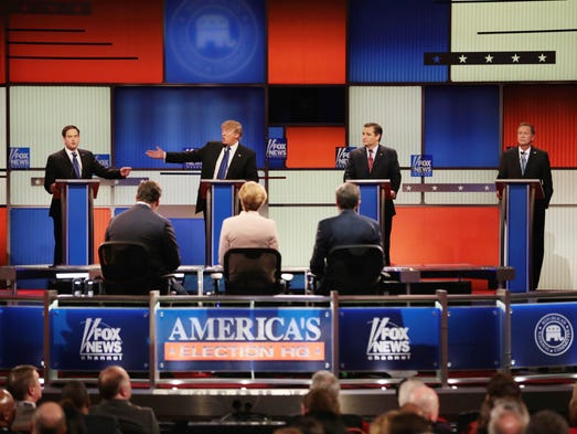 Republican presidential candidates participate in the