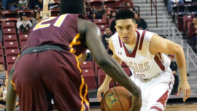 New Mexico State's Joe Garza has given the Aggies valuable minutes off the bench this season. The Las Cruces High graduate is a walk-on for NMSU.