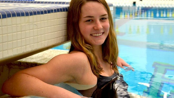 Grand Valley State swimmer Claire Meeuwsen earned the team's captain award as the top newcomer to the team.