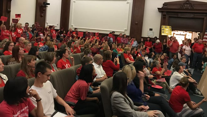 Members of unions and support staff spoke out at Tuesday's Ventura Unified School District Board meeting about salary negotiations.