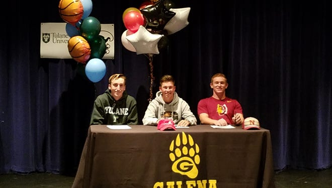 Wood, along with fellow Galena seniors Niko Pezonella and Presley Mackelburg, signed their National Letters-of-Intent in a ceremony at the school on Thursday.