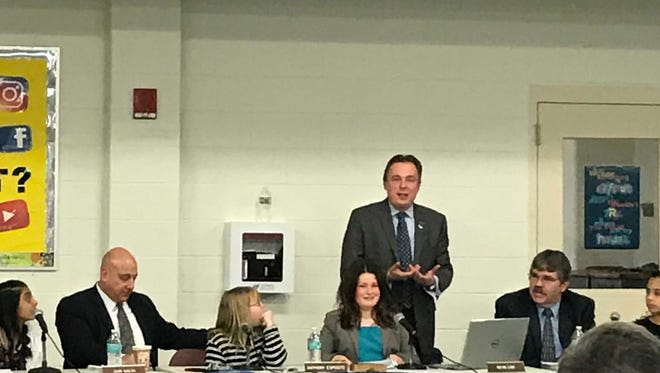 Changes in the Sayreville school district's student code of conduct were approved on first reading at the Board of Education meeting on Tuesday.