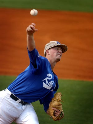 MTSU pitcher Nate Hoffmann pitched a gem Friday night in the win over Rice.