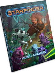 """Battle or befriend more than 80 bizarre life forms in this creature collection for the """"Starfinder"""" role-playing game. Every new world and space station comes with its dangers, from strange new cultures to robotic killing machines to alien predators ready to devour unwary spacefarers. Inside this book, you'll find rules and ecologies for creatures from across the known worlds, plus alien equipment and more."""