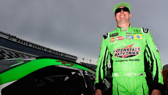 Kyle Busch, driver of the No. 18 Interstate Batteries Toyota, is the Monster Energy NASCAR Cup Series points leader heading into Saturday night's race.