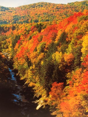 Autumn colors at Quechee Gorge.