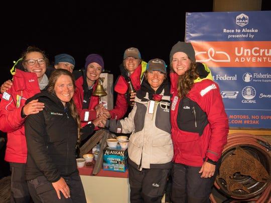 Team Sail Like a Girl, an eight-woman crew from Bainbridge