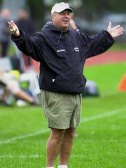 Yorktown football coach Ron Santavicca in 2002.