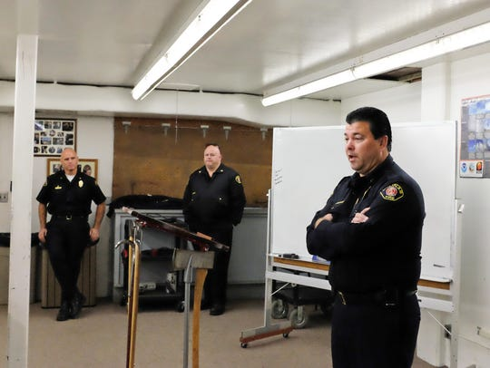 Salinas Fire Chief Ed Rodriguez addresses new firefighters