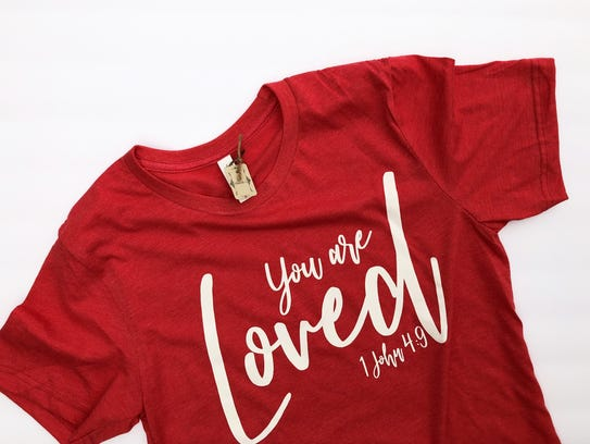 """You are Loved"" t-shirt available from Shandi's Boutique."