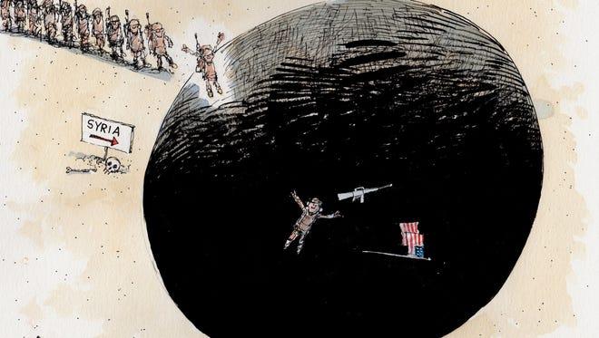 Chris Britt drew this Desert Sun editorial cartoon for Nov. 3, 2015.