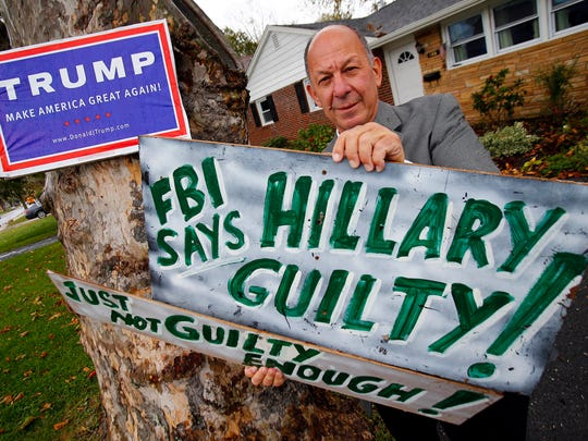 David Cohen, a die-hard Donald Trump supporter living in Long Branch, is shown outside of his home there Thursday, October 27, 2016.