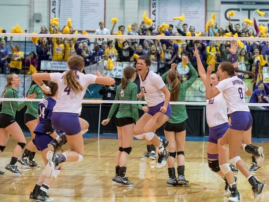 Bronson Volleyball Wins State 20