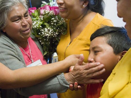 Anastacia Orduña Martinez (left) sees her grandson