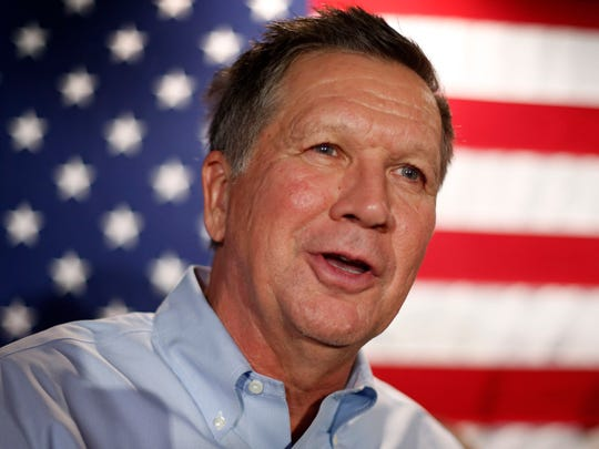 Republican presidential candidate John Kasich, governor