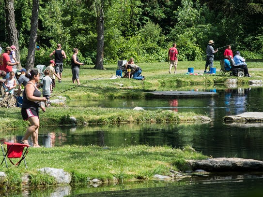 Families enjoy Father's Day at Limestone Springs Preserve