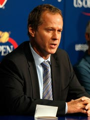 Patrick McEnroe is stepping down as the USTA's director